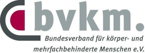 Logo von bvkm. Bundesverband für körper- und mehrfachbehinderte Menschen e.V.