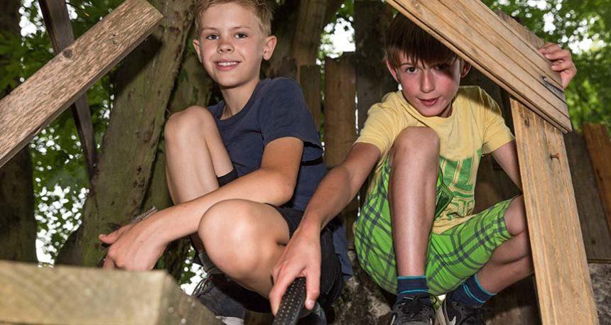 Kinder in einem Baumhaus